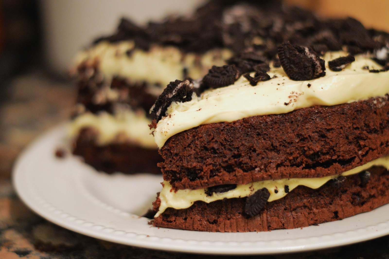 """Layered Dessert Recipes With Cake Mix: Double Layer """"Dirt"""" Cake"""