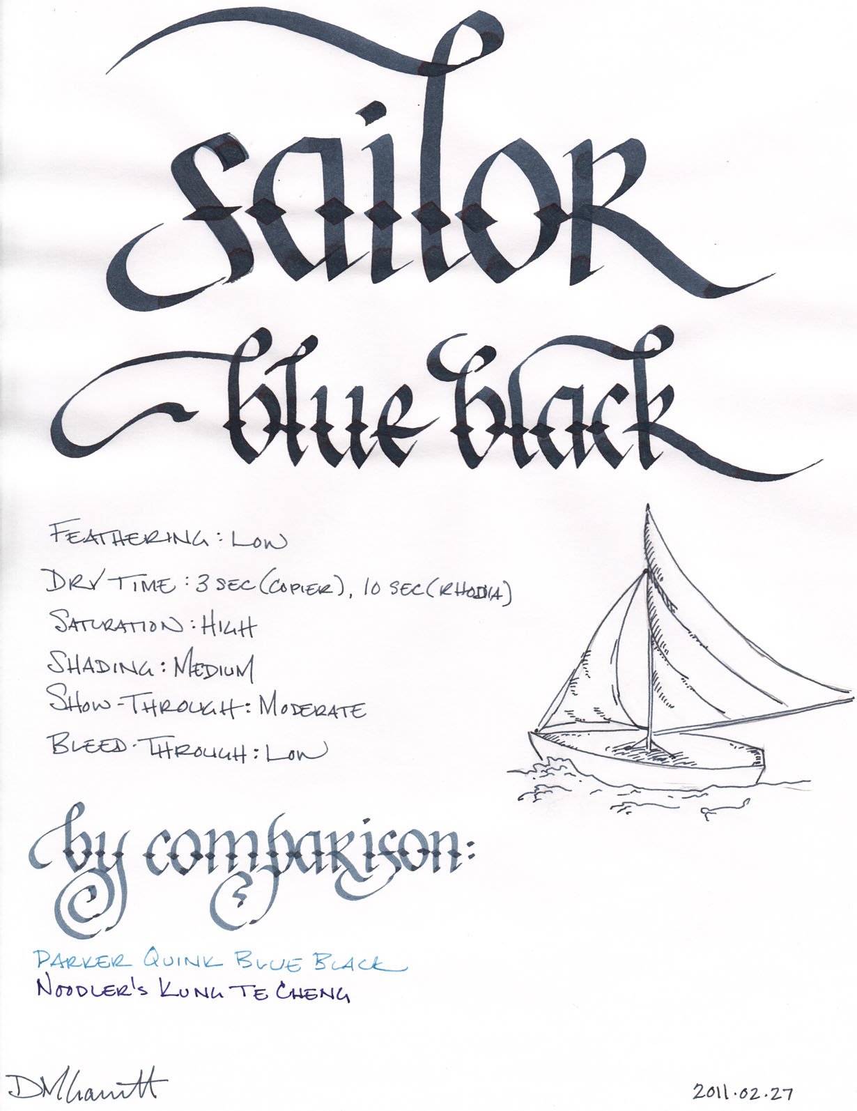 blue vs black pen