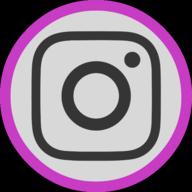 instagram button outline