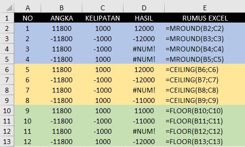 Contoh Rumus MRound-Ceiling-Floor Berbeda Lambang Bilangan
