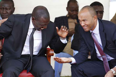 Peter Kenneth with William Ruto. PHOTO | FILE