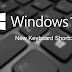 New Windows 10 Keyboard Shortcuts