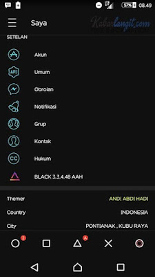 Download BBM Theme Black Elegant versi 3.3.4.48 Update