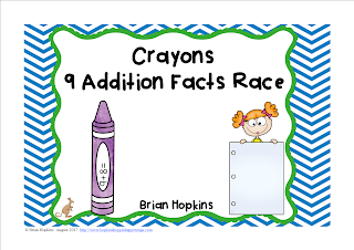 FREEBIE Crayons Adding 9s Facts Race