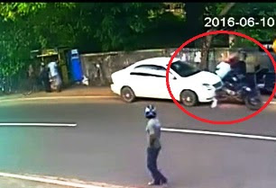 Madampe Accident (CCTV)Car Accident CCTV