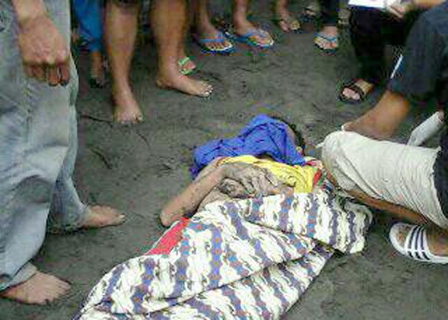 Mayat Asep Anhar Korban Tenggelam Yang Berhasil ditemukan