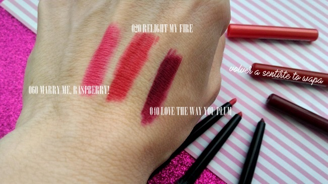 Descatalogados de Catrice - Ultimate Stay Lipliner - Swatches