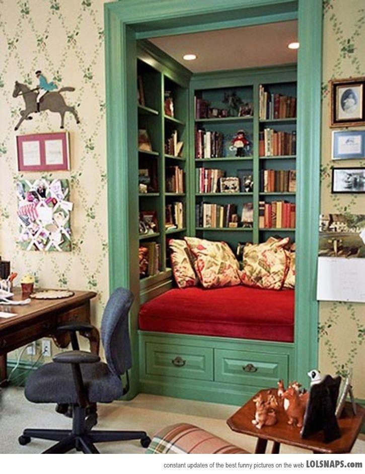 A geek saga writer 39 s block wednesday i want a book nook Retro home decor pinterest