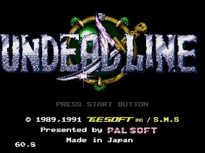 【MD】捉蟲英雄(Undead Line)原版+HP、流星錘不減Hack版!