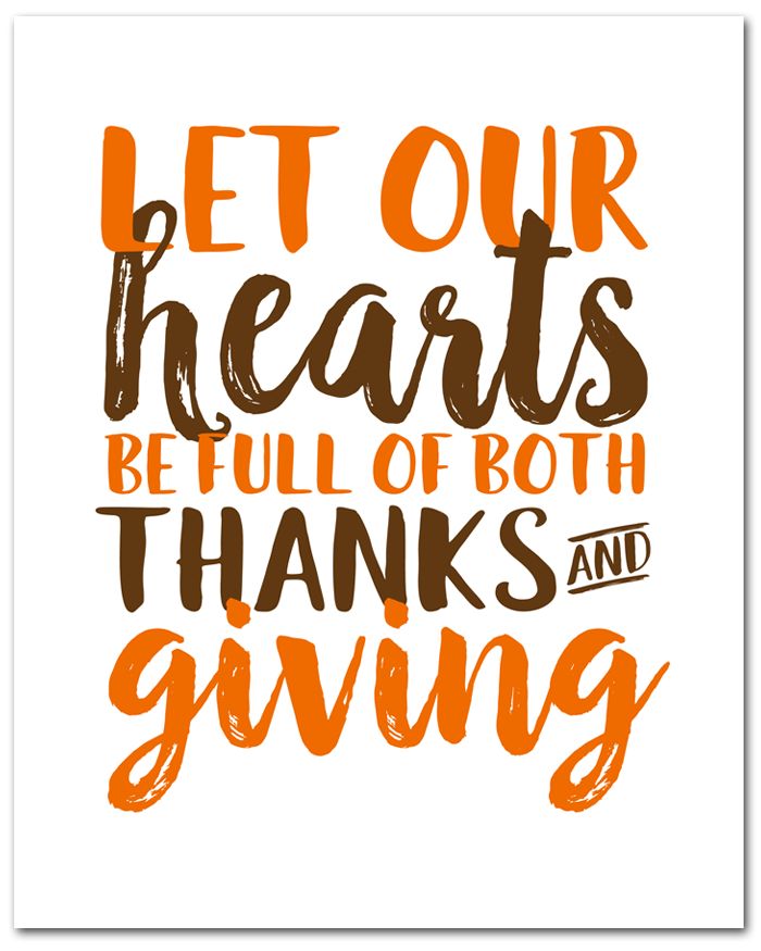 Free Thanksgiving Printable | This free (instant download) 8x10 printable is perfect for all season long.