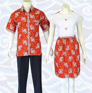 model baju batik couple anak muda terbaru