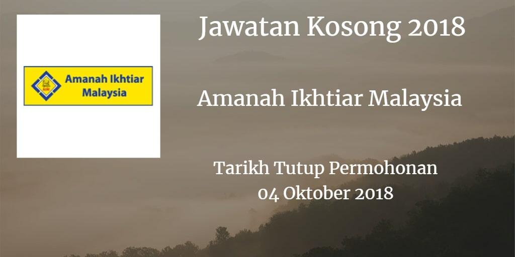Jawatan Kosong AIM 04 Oktober 2018