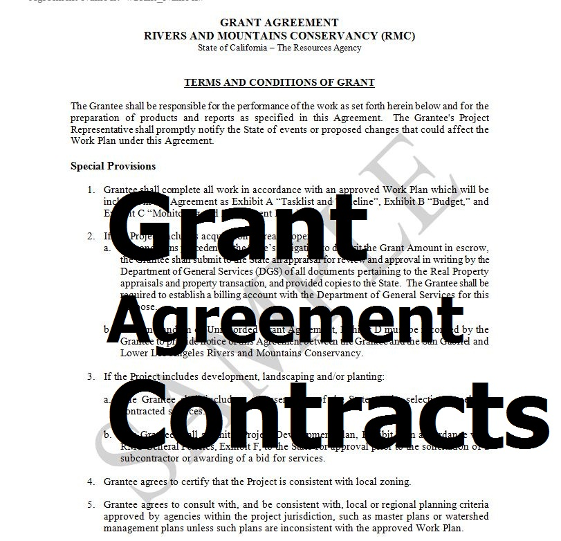 Exemples Of Grant Agreement Contracts In Word Doc Sample Contracts