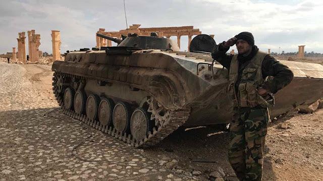 Resultado de imagen para El Ministerio de Defensa ruso revela detalles de la liberación de Palmira