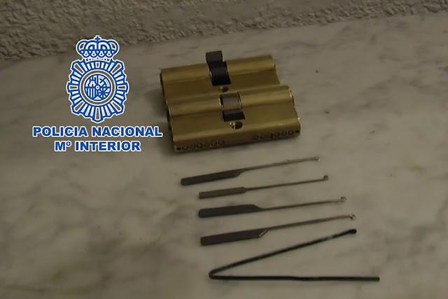 Material usado en los robos