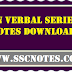 Non Verbal Series Study Material Notes PDF Download