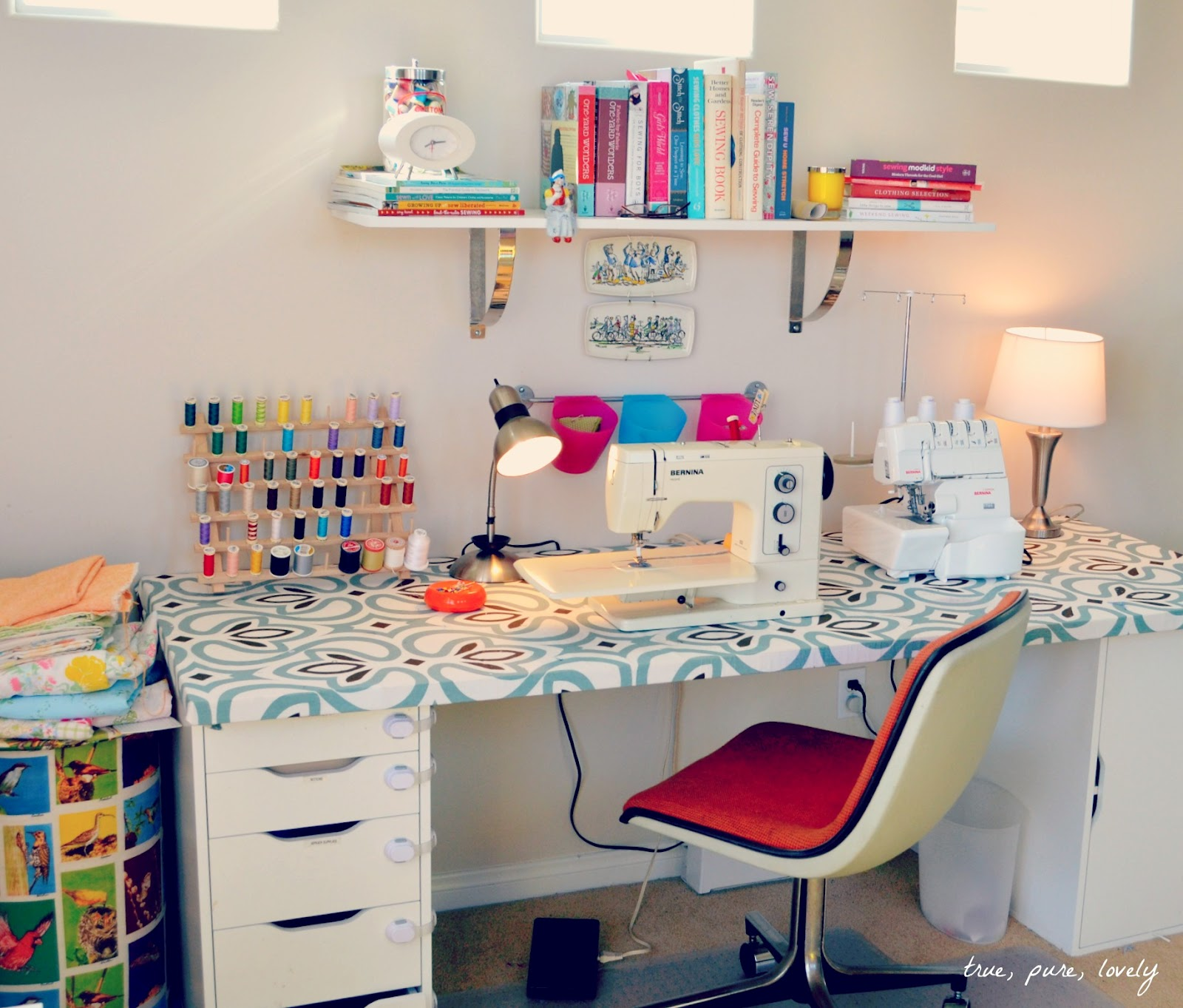 Sewing Room Designs: True, Pure, Lovely: My Sewing Space