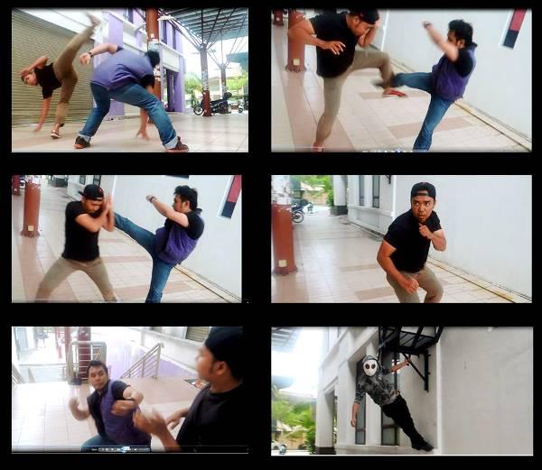 aksi pertarungan dalam filem