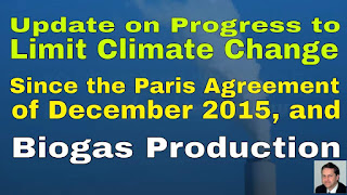 Featured Image Showing Limiting Climate Change - Progress Since the Paris Agreement of December 2015 and Biogas.