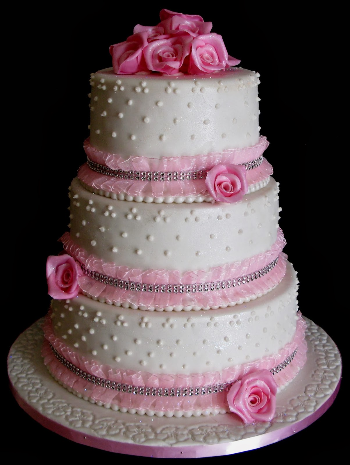 3 layered wedding cakes sugarcraft by soni three layer wedding cake pink roses 10196