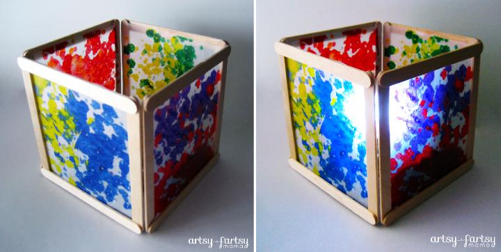 DIY Wax Paper Lantern at artsyfartsymama.com