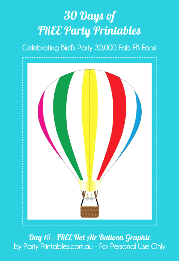Hot Air Balloon Graphics Free Printables - via BirdsParty.com