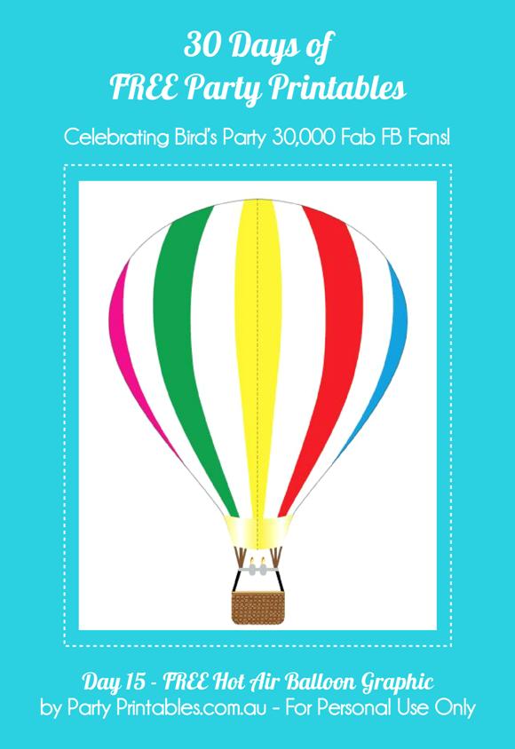 Hot Air Balloon Graphics Free Printables