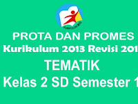 Prota dan Promes Tematik Kelas 2 SD Semester 1 Kurikulum 2013 Revisi 2017