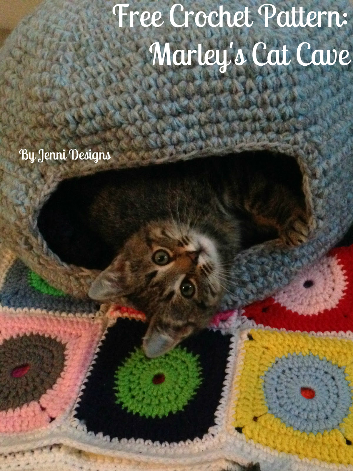 By Jenni Designs: Free Crochet Pattern: Marleys Cat Cave ...