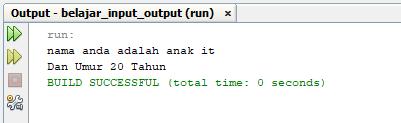 belajar input output dengan java
