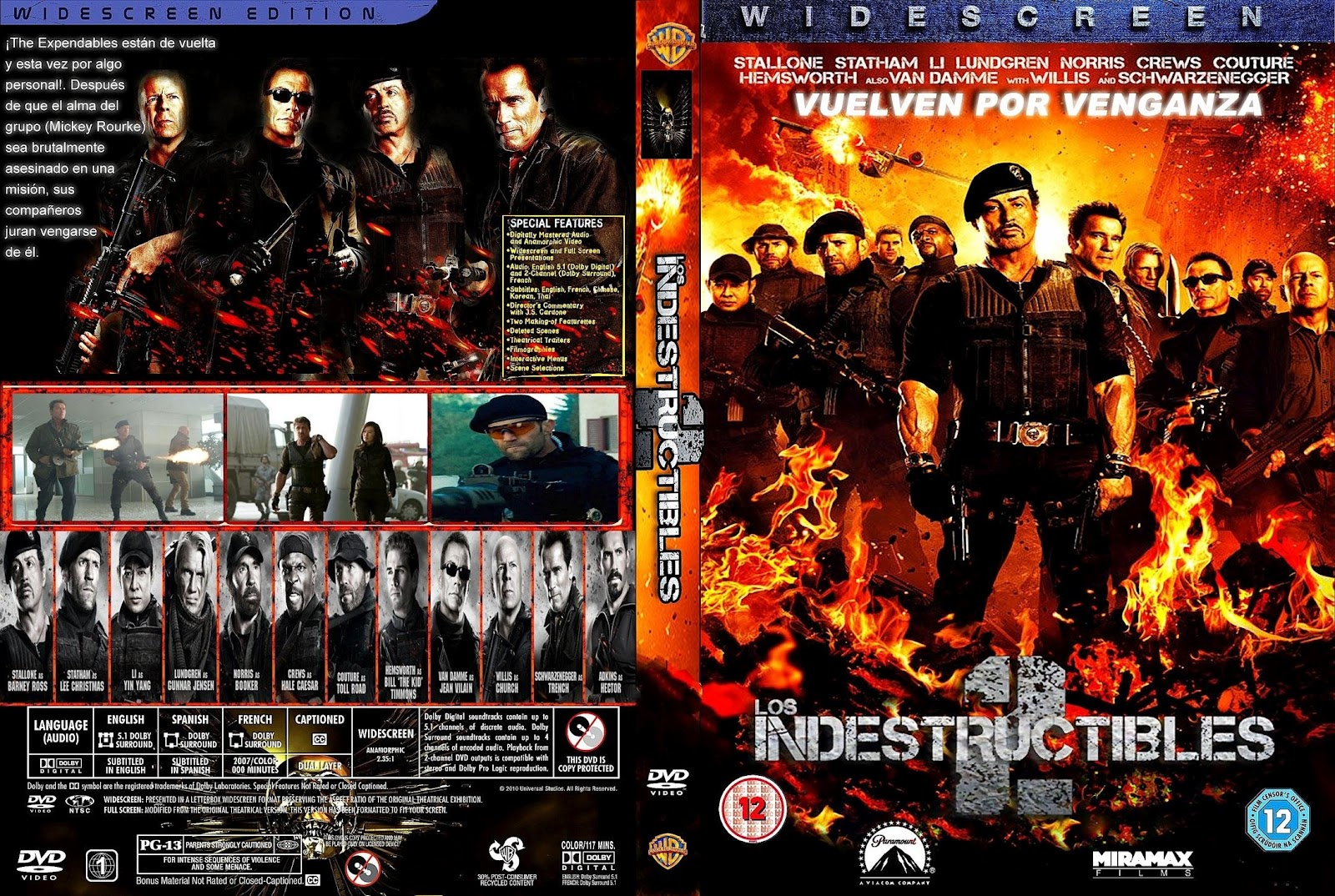 todo dvd full los indestructibles 2 the expendables 2
