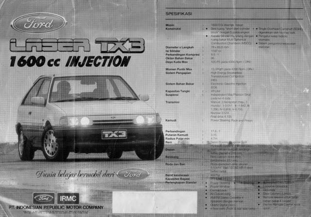Brosur Ford Laser TX3