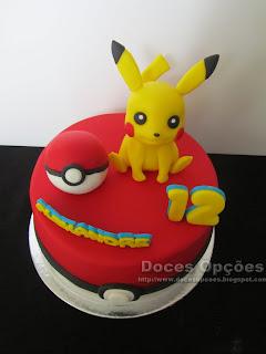 Bolo de aniversário Pikachu bragança