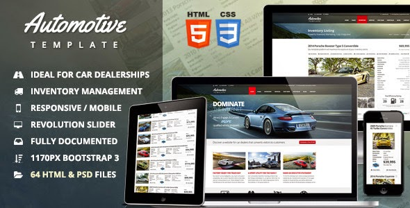 car shop website theme