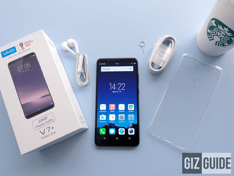 Vivo V7+ packaging