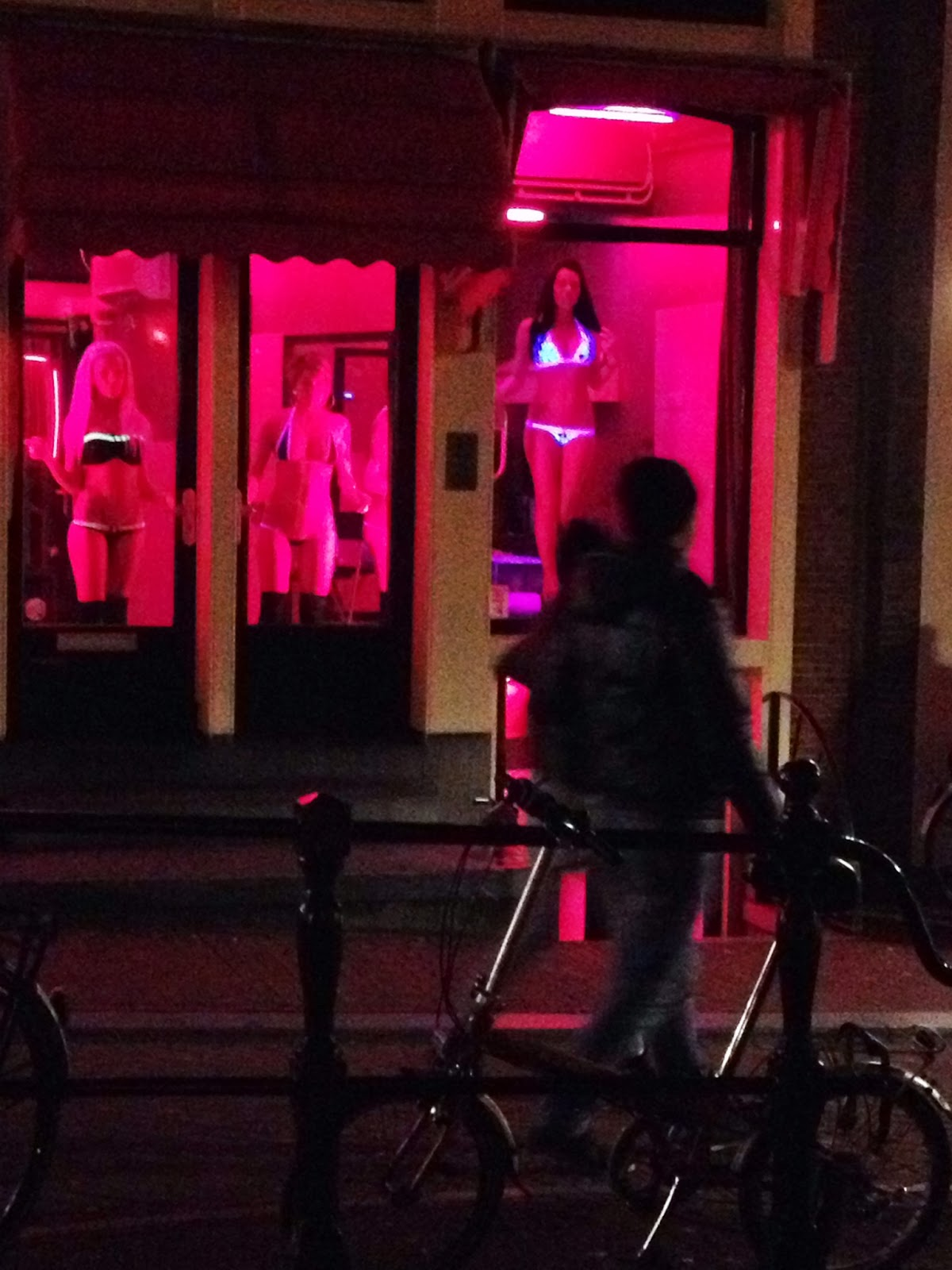 Amsterdam - It's hard not to look at the ladies in the Red Light District