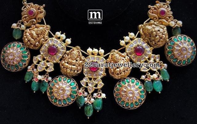Kundan Lakshmi Choker by Mahalaxmi Jewellers