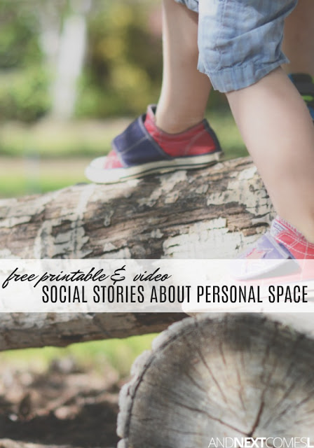 Free printable & video social stories about personal space