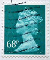 znaczek królowej UK