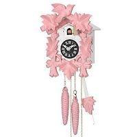 Cuckoo Clock – Musical, Quartz, battery operated – Pink