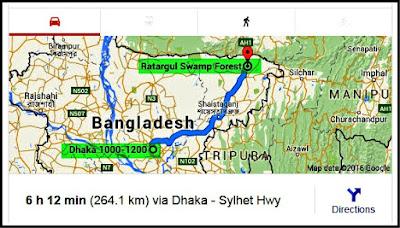 Ratargul Swamp Forest, Sylhet, Bangladesh, Trip Navigation