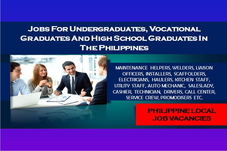 undergraduate high school jobs