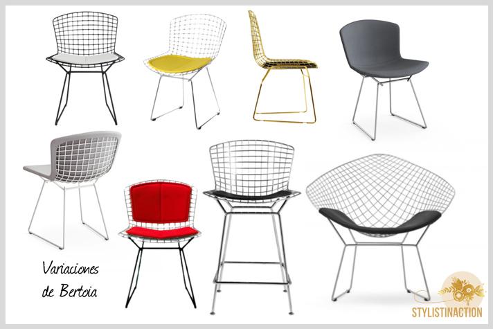 sillas de autor - cual es la indicada para cada casa - serie Bertoia
