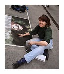 recreate masterpieces, Caravaggio Art, street painting, Book:  My Life as a Street Painter in Florence, Italy
