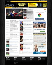 Sporty Magazine 2 Blogspot Templates, elegant with slider theme