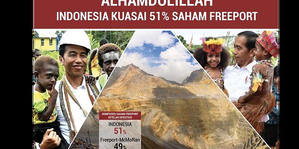 Klaim Akuisisi Saham Freeport 51 Persen, Jokowi Dituding Ngibul