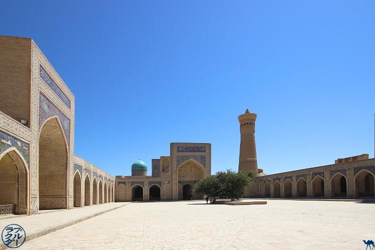 Le Chameau Bleu - Blog Voyage Ouzbékistan - Cour intérieur  de la Mosquée Kalan  - Asie Centrale
