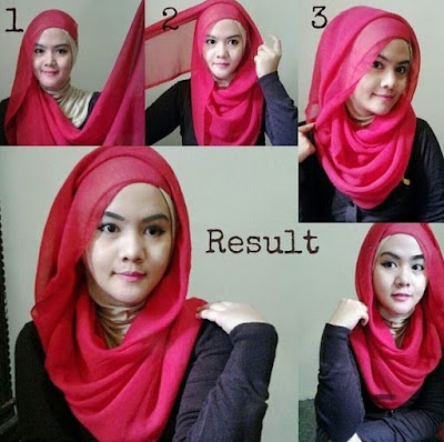 model hijab segiempat