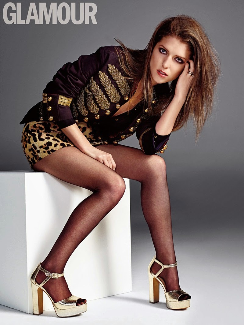 Anna Kendrick poses for the Glamour UK May 2015 issue