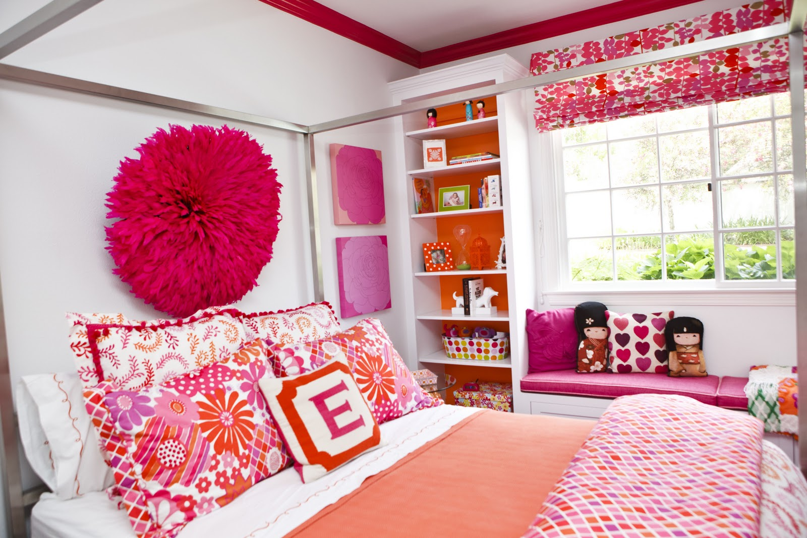 pink and orange bedroom ideas nursery notations september 2011 19455